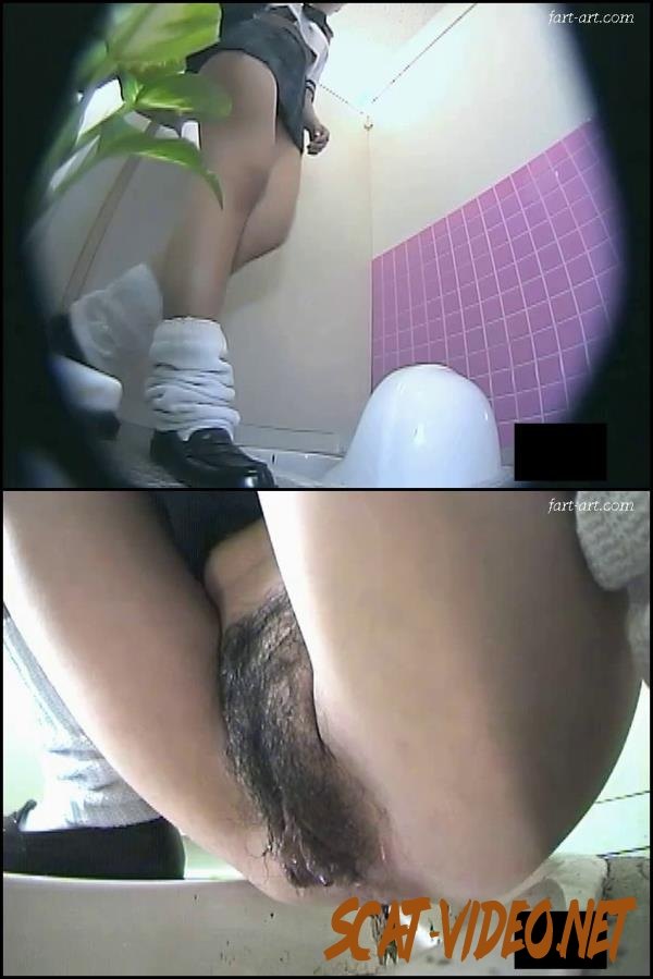 BFTD-09 Hairy schoolgirls shitting and pissing on toilet spy cam (Uncensored) (2018) [SD/145.0977_BFTD-09]
