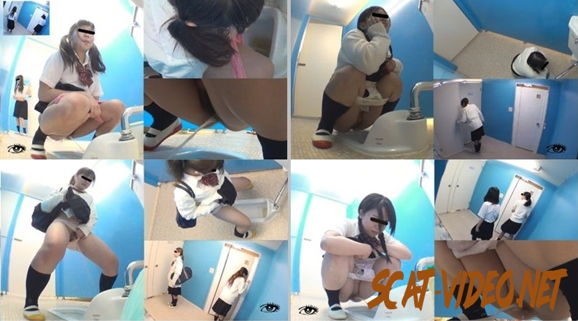 JD-03 Schoolgirlfriends friendly peeing at staff's toilet and caught on multiview hidden cam (2018) [FullHD/216.0152_JD-03_1]