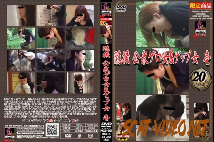 PKGD-001 Vomiting 隠撮 公衆ゲロ女&ゲップ女 ポアハウス スカトロ 嘔吐 Hidden Camera (2018) [SD/17.1045_PKGD-001]